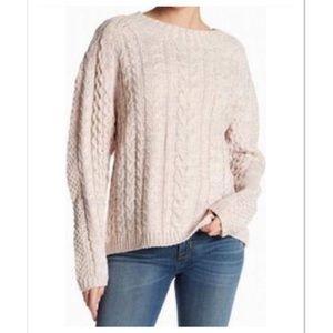 Anthropologie John + Jenn cable knit sweater